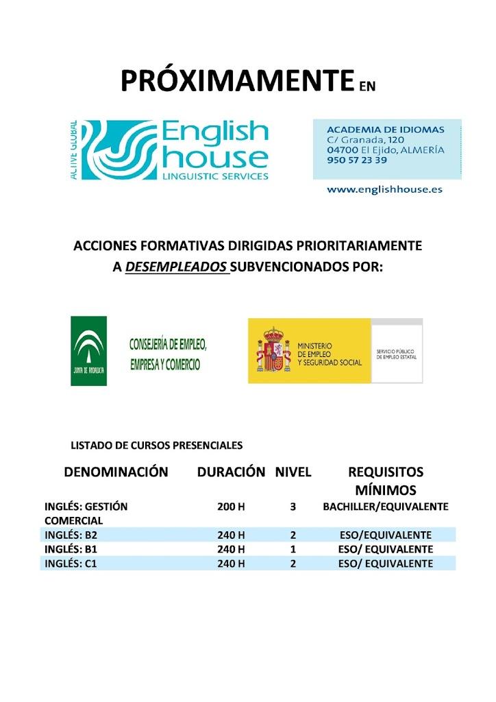 Cursos Para Desempleados De La Junta De Andalucia English House